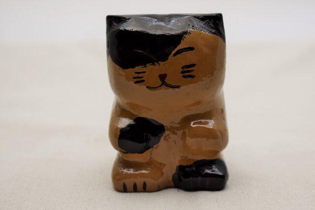 ブチ猫 黒漆白漆紫漆の画像1枚目