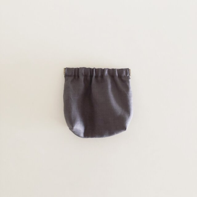SIMPLE POUCH / graybrownの画像1枚目