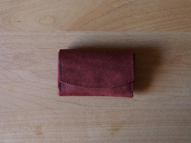 pillow(red soil) - コインケース/カードケース/名刺入れ(レッドソイル)赤茶の画像1枚目
