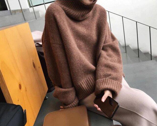 【受注製作】カシミアトップス・セーター ニット オーダーメイド 豊富な色 LH 4235の画像1枚目