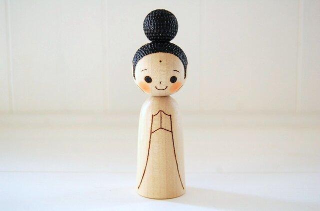 [conocokeshi]仏像こけし*祈り*[124]の画像1枚目