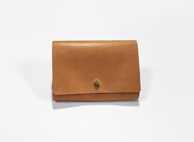 オイルレザーの小さなお財布(ライトブラウン)の画像1枚目