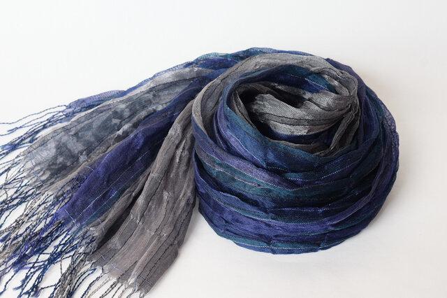 手織りシルクストール【淡月*01】の画像1枚目