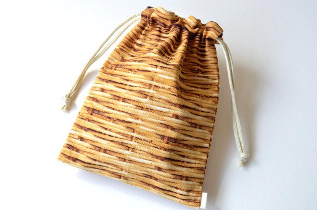果実なバスケット ブルーベリー・巾着袋 【 Simple 】の画像1枚目
