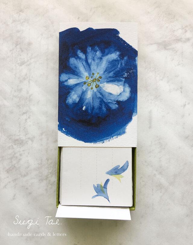 ハコフミ *箱に入った小さなお手紙〜花と燕の画像1枚目