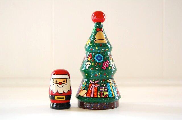☆クリスマスツリー☆マトリョーシカ☆の画像1枚目
