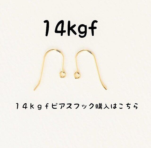 【14kgfのフックピアスへ変更】14金ゴールドフィルドピアスフックの画像1枚目