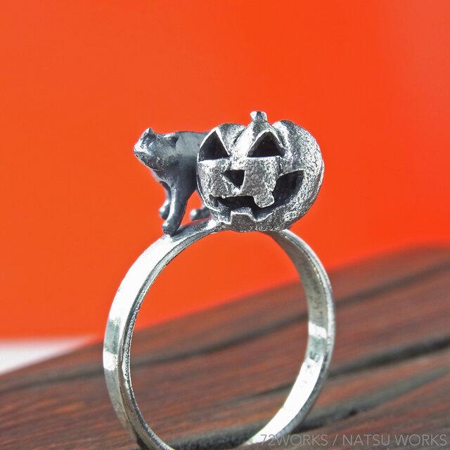 かぼちゃと猫の指輪 * Jack-o'-Lantern & Cat Ringの画像1枚目