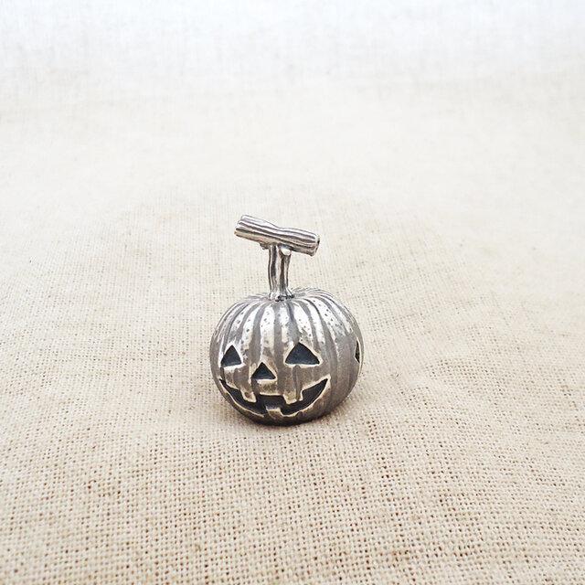 卓上の鈴 『 ハロウィンかぼちゃ 』 銀製(シルバー925)の画像1枚目