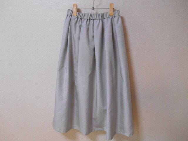 H様ご予約品★綺麗色の紬のリメイクスカート★裏地付の画像1枚目