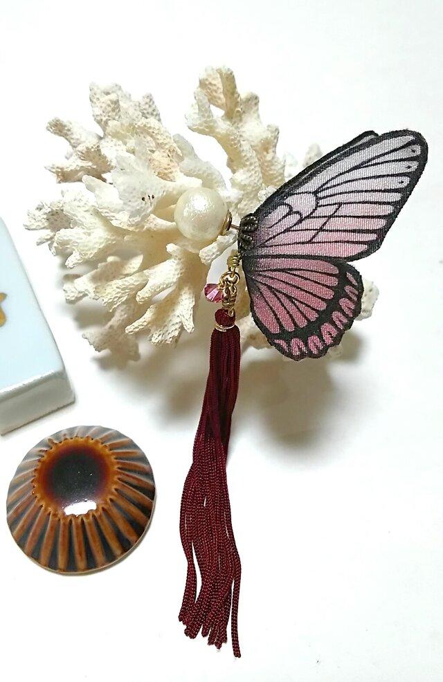 蝶のピアス  大 (マダラ系)の画像1枚目