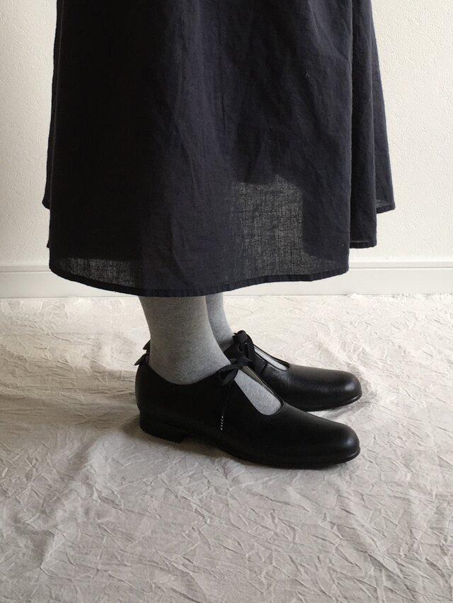 sizuku(紐結びの革靴*黒)の画像1枚目