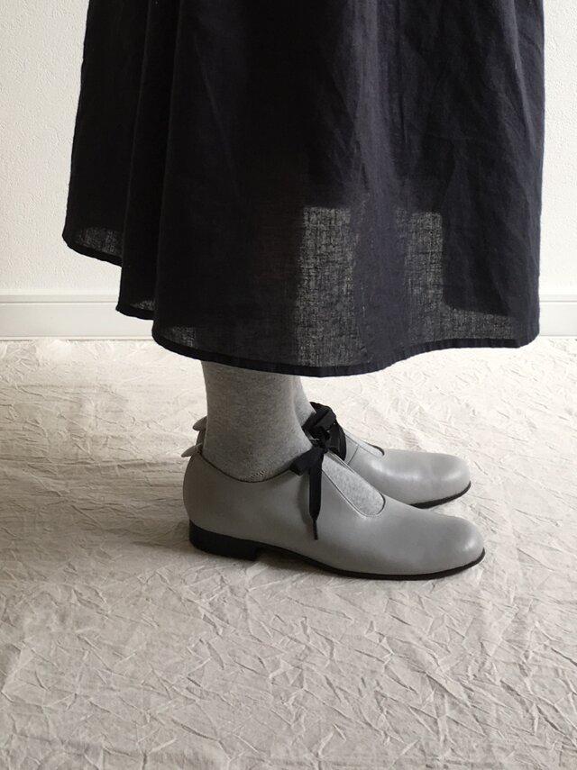 sizuku(紐結びの革靴*グレー)の画像1枚目