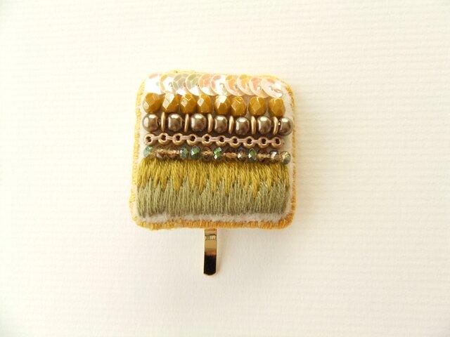 Hair Accessory ポニーフック ビーズ刺繍(K0828)の画像1枚目