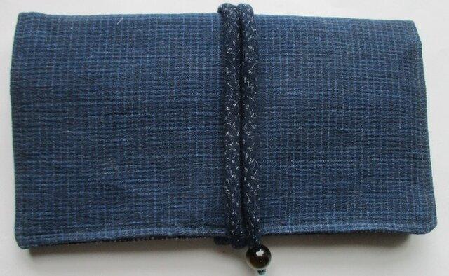 4400 四国の藍縮で作った財布・ポーチの画像1枚目