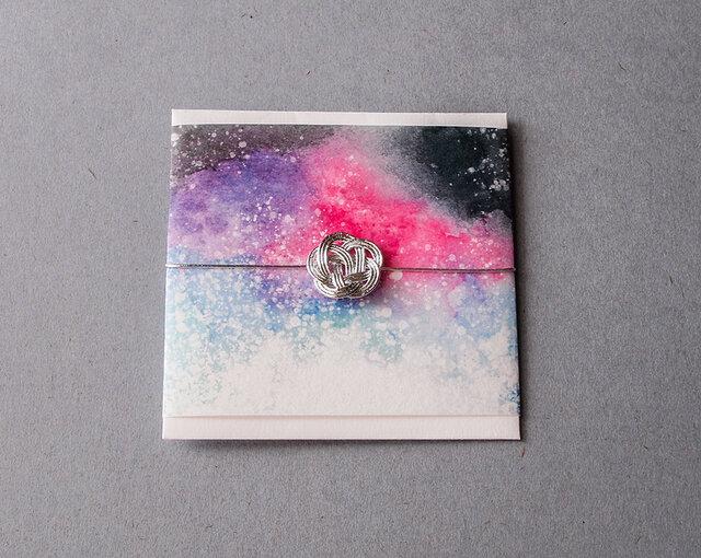水引 ポチ袋 /『星雲-銀』の画像1枚目