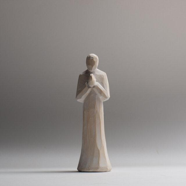祈る人15㎝ 1002の画像1枚目