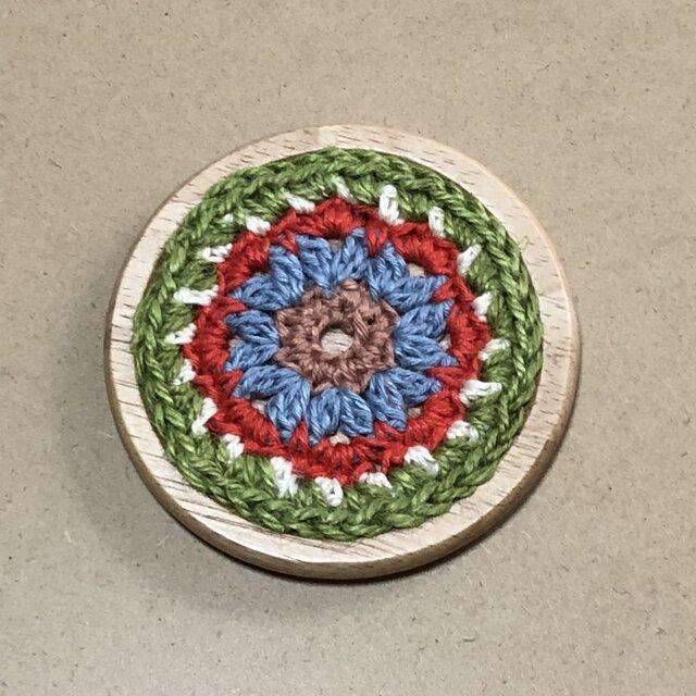 ☘️木製コースターC*(花)* 1枚の画像1枚目
