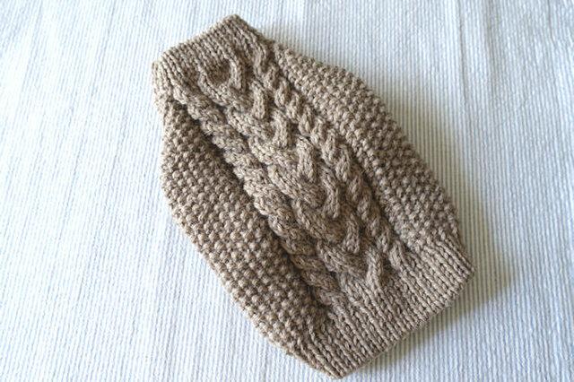 アランセーターМS「グレー」犬のセーターの画像1枚目