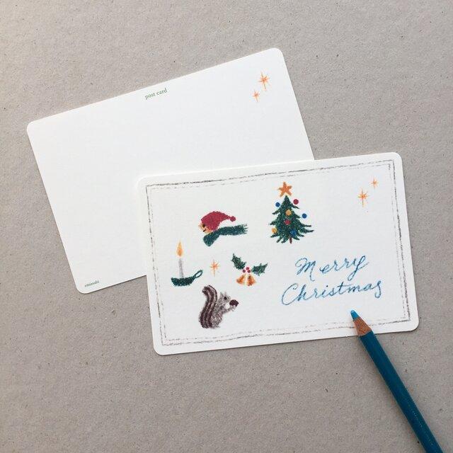 クリスマスのポストカード 5枚組の画像1枚目