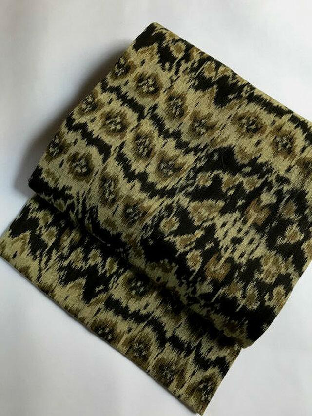 イカット織りの名古屋帯E 【値下げしました】【送料無料】の画像1枚目