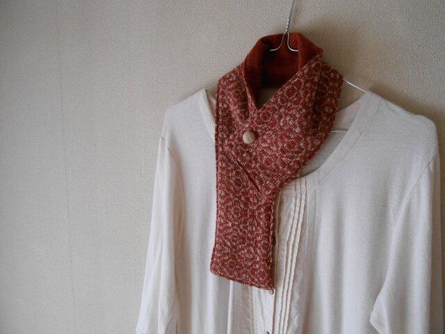 ベビーキャメルの手紡ぎ手織りミニマフラーの画像1枚目