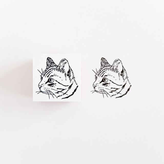 ラバースタンプ トラ猫の画像1枚目