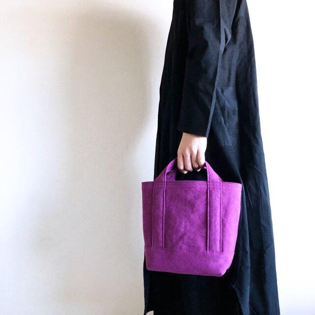 TOTE BAG (S) / purpleの画像1枚目