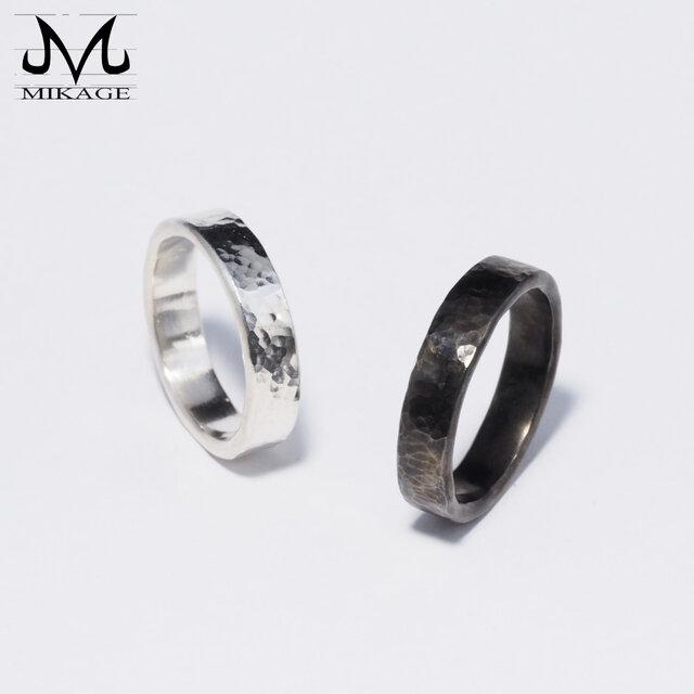 The Simplest Ring BOLD:銀925シンプルな槌目リングの画像1枚目