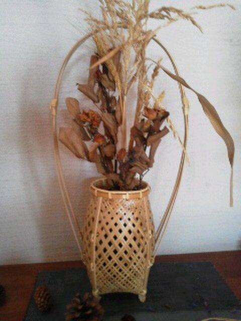 3本手つき網代編みかご(花籠)の画像1枚目