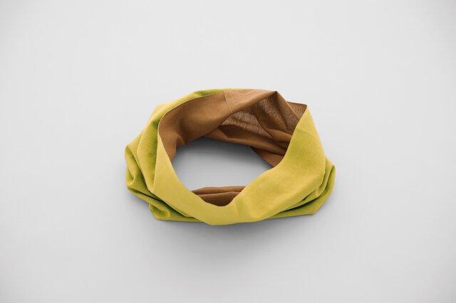 ■秋冬限定色■てぬぐい Oo[ワオ] Mustard × Brown 【Sサイズ】の画像1枚目