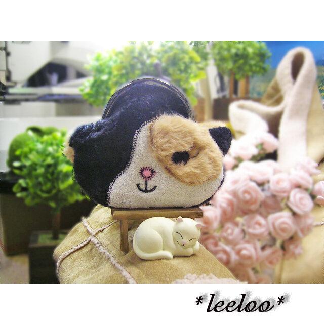 ★猫のガマグチ★オーダーメイド★ふさふさファーがま口1点の画像1枚目