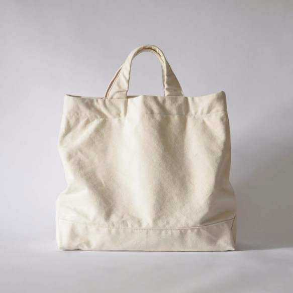 eighth note - tote (natural) 帆布のトートバッグの画像1枚目