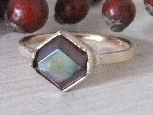 rainbow garnet*14kgf ringの画像1枚目