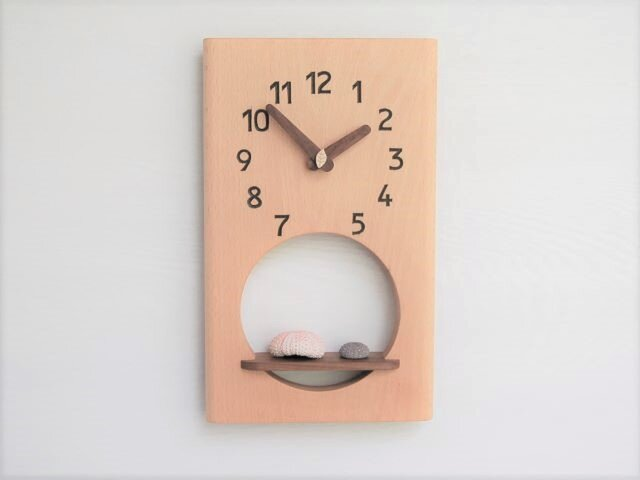 31cm×19cm 掛け時計 ブナ【1911】の画像1枚目
