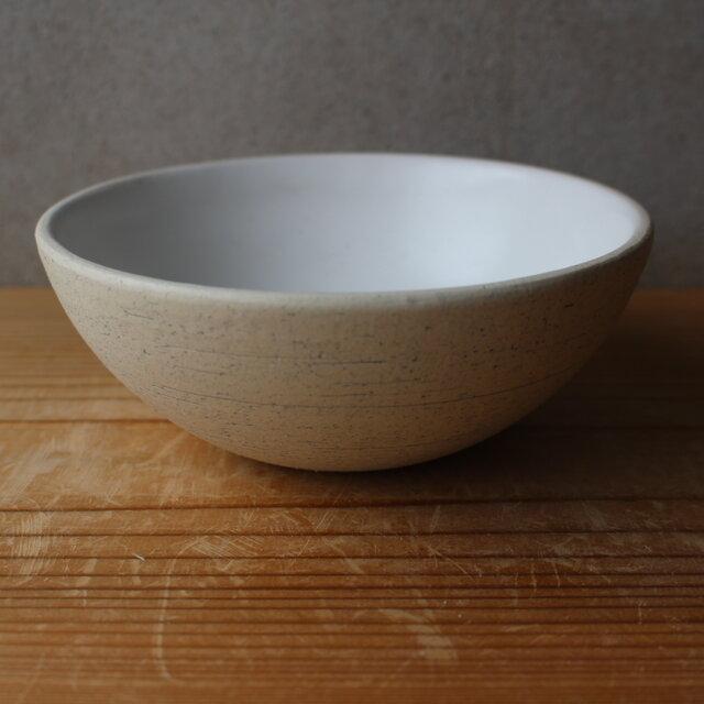 育てるウツワ 大きめお茶碗 どんぶり 白 地シリーズの画像1枚目