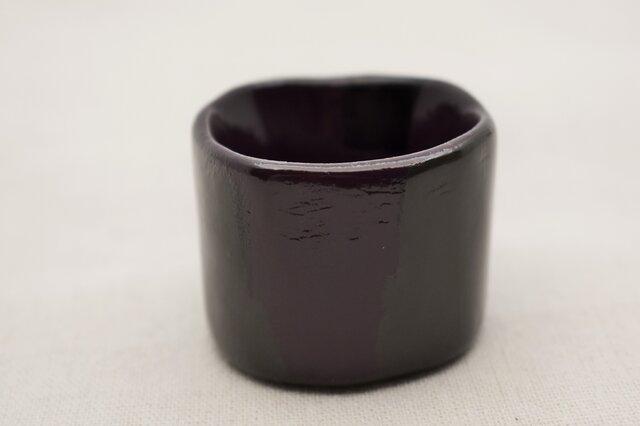 手彫酒器 紫漆灰色漆黒漆の画像1枚目