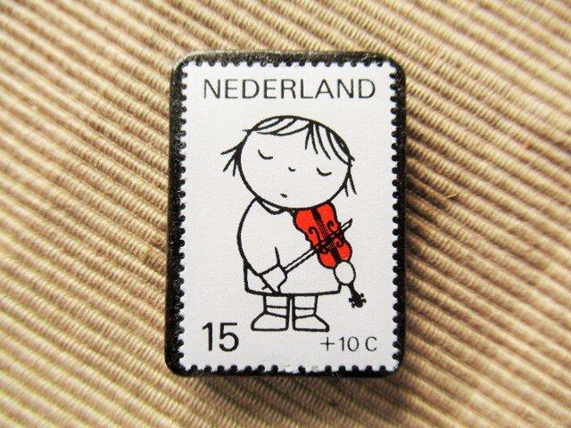 オランダ 切手ブローチ5527の画像1枚目