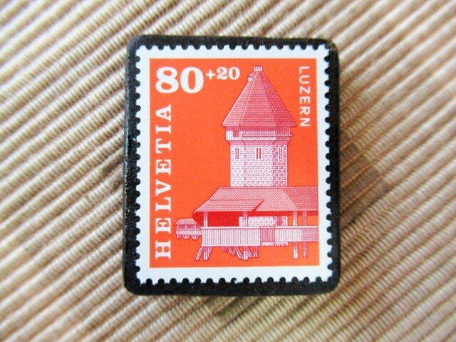 スイス 切手ブローチ5540の画像1枚目