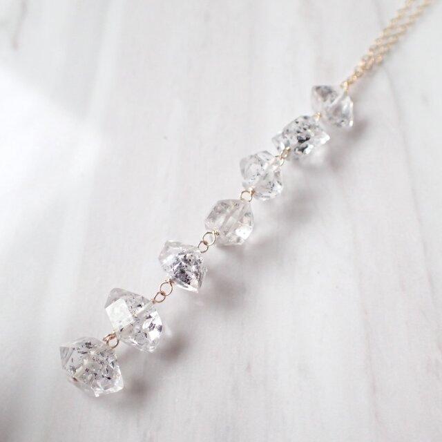 K14GF double point quartz necklaceの画像1枚目