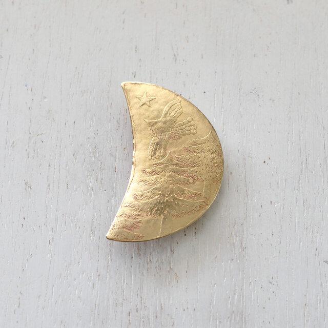ブローチ「月」シリーズの画像1枚目