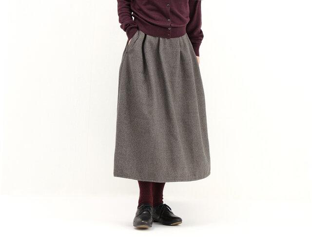 タックギャザースカート(千鳥)#281の画像1枚目