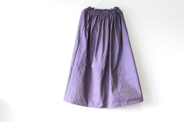 ☆紬着物ミディロングスカート☆ストライプ♪【再販】/31ks66の画像1枚目