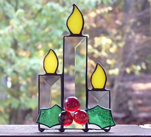 Christmas Ornament   ベベルグラスのキャンドルの画像1枚目