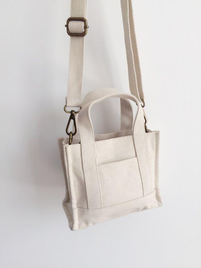 【セール】3980円→2980円【0010生成り】オシャレ 3Way ファスナー付きミニトートバッグ  可愛いショルダーバッグの画像1枚目