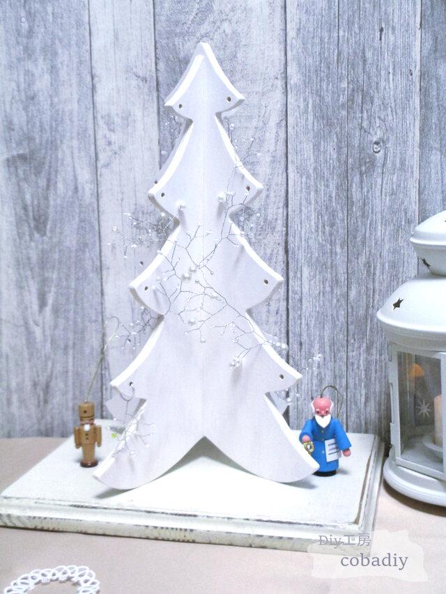 【DIYキット】ワイヤーとパール&ビーズで飾るクリスマスツリーキットの画像1枚目