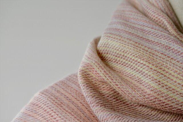 絹紡糸xカシミヤストール sj190304の画像1枚目