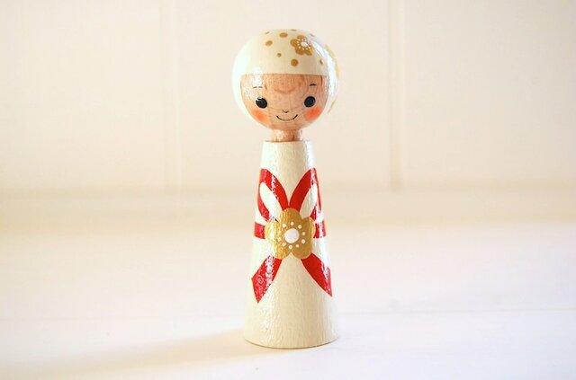 [conocokeshi]指人形・hand puppet[59]結びちゃん*祝*の画像1枚目