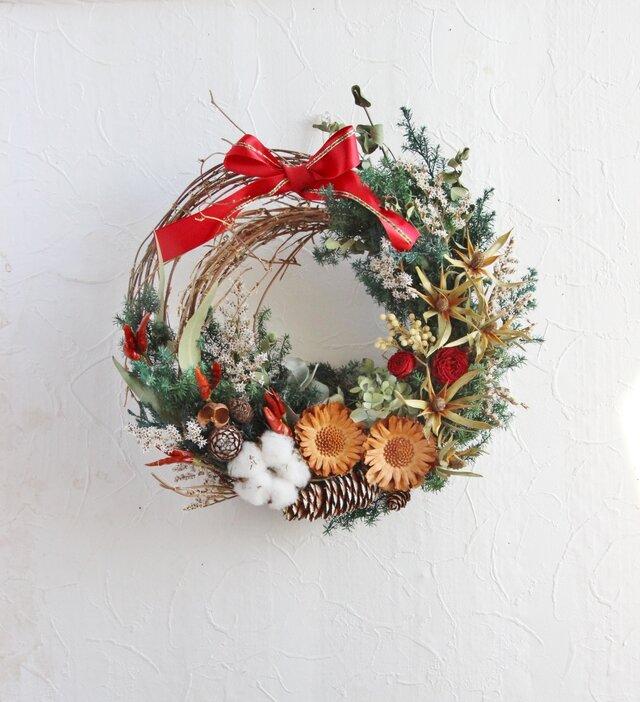 Pleasant Christmas wreathの画像1枚目