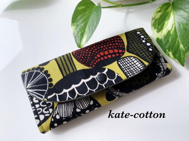◆受注製作!人気!キノコ柄の 北欧風 軽い長財布!の画像1枚目